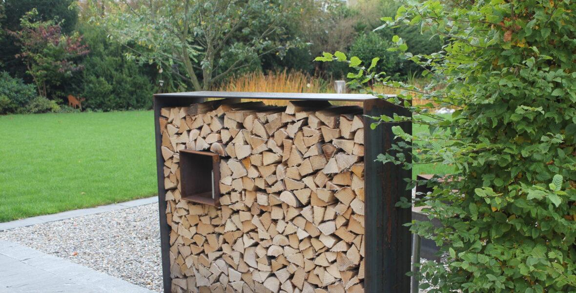 Ref. Mauern, Ausstattung Holzlager mit Stahlrahmen Spalinger Zell 5