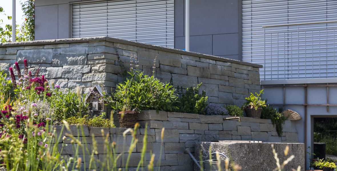 Natursteinmauer Illnau